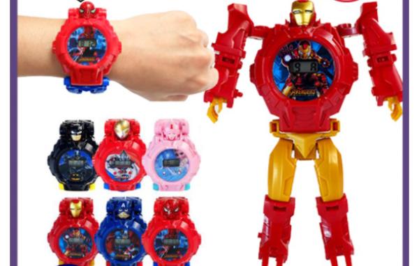 Nơi bán [🔥 ĐỒNG HỒ MỚI NHẤT🔥] Digital Avengers Batman Ultraman Frozen Children's Jam Karnak Đồng hồ đồ chơi có thể chuyển đổi dành cho trẻ em của cô gái và cậu bé