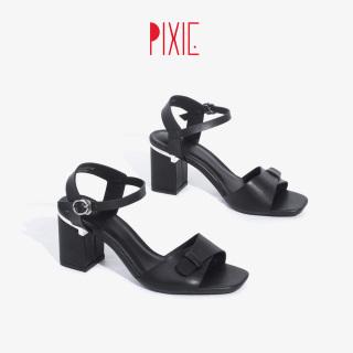 Giày Sandal Cao Gót 5cm Mũi Vuông Pixie X744 thumbnail