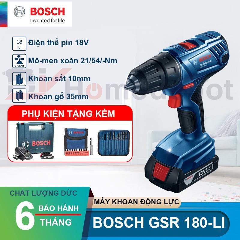 Máy khoan vặn vít dùng pin 18V Bosch GSR 180-LI