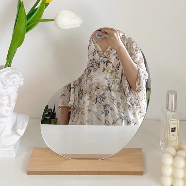 Gương decor VUADECOR để bàn có đế gỗ nhiều size giá rẻ