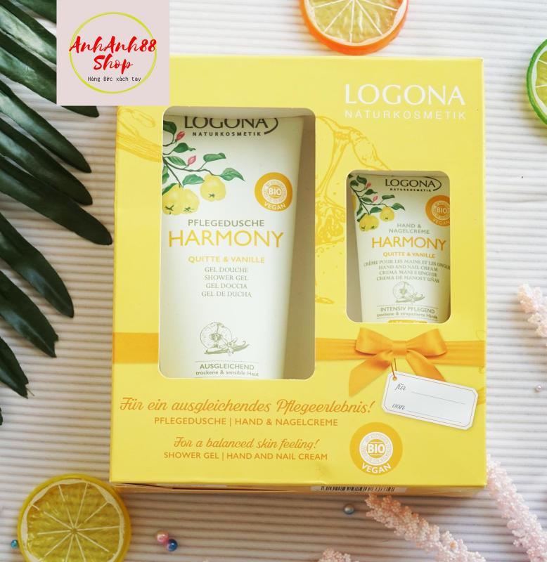 Set quà tặng Sữa tắm hữu cơ  và kem dưỡng da tay hữu cơ LOGONA Harmony nhập khẩu