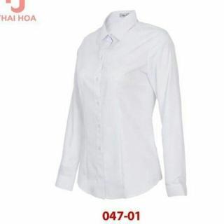 Áo Thái Hòa tay dài màu trắng 047-01 thumbnail