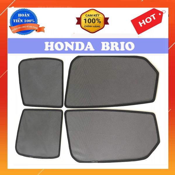 Rèm Che Nắng Nam Châm Xe Honda Brio  Bộ 4 Tấm, Khung Rèm Tích Hợp Sẵn Nam Châm bộ 4 tấm che nắng, nam châm hít cực mạnh, lắp đặt đơn giản, che nắng hiệu quả