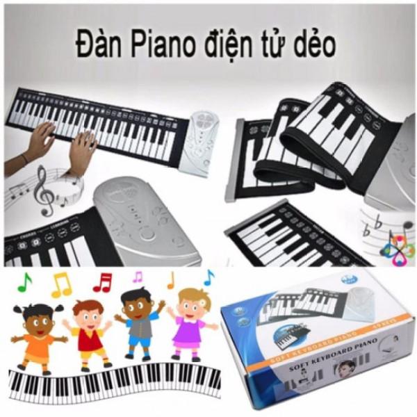 Đàn Piano Điện Tử,Đàn Piano Cuộn Lên 49 Phím, Đàn Piano Mềm Linh Hoạt Silicone Có Thể Gập Lại Bàn Phím Điện Tử Đàn Piano Nhạc Cụ Cho Học Sinh Trẻ Em