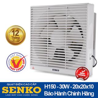 Quạt hút thông gió 2 chiều âm tường Senko H150 30W nhựa cao cấp, lọc bụi mbaor hành 12 tháng thumbnail