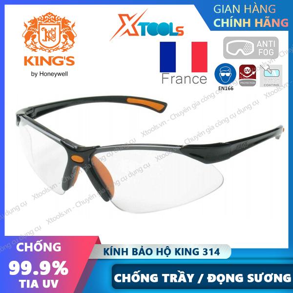 Giá bán Kính bảo hộ Kings KY314B Mắt kính chống bụi, chống tia UV, chống trầy xước, đọng sương, dùng trong lao động, đi xe máy [XTOOLs][XSAFE]