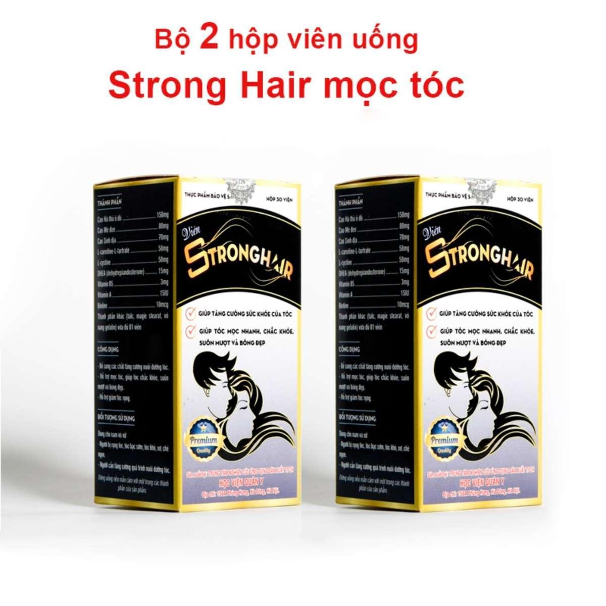 Bộ 2 hộp mọc tóc Strong Hair Học Viện Quân Y 30 viên chính hãng