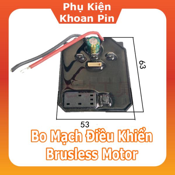 Mạch điều khiển, công tắc điều tốc, cuộn dây Stato, Rotor máy vặn bulong 18V không chổi than ( P172)