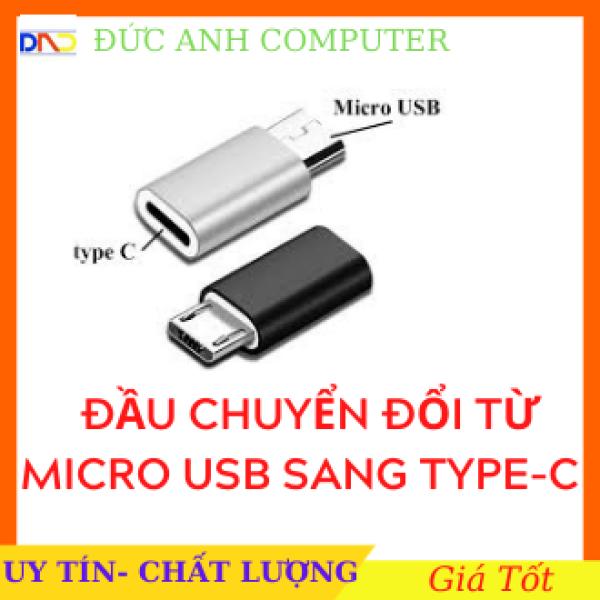 Bảng giá Đầu Cắm Chuyển Đổi Cổng Micro USB Sang Type C Vỏ Nhôm Loại Tốt, Micro Usb To Type C, Full Box Phong Vũ