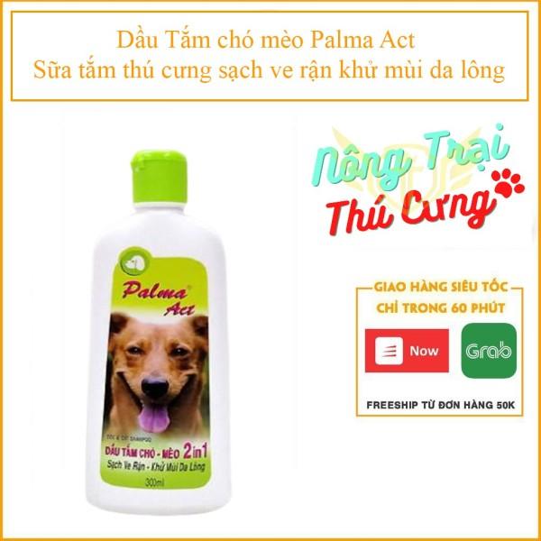 [HCM]Dầu Tắm chó mèo Palma Act (- 102) sữa tắm thú cưng sạch ve rận khử mùi da lông