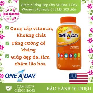 Vitamin Tổng Hợp Cho Nữ One A Day Women s Multivitamin, 300 Tablets [Hộp 300 viên] thumbnail