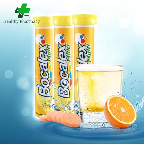Viên sủi bổ sung Vitamin C B Tăng sức đề kháng - Bocalex Multi (Tuýp 20 viên)