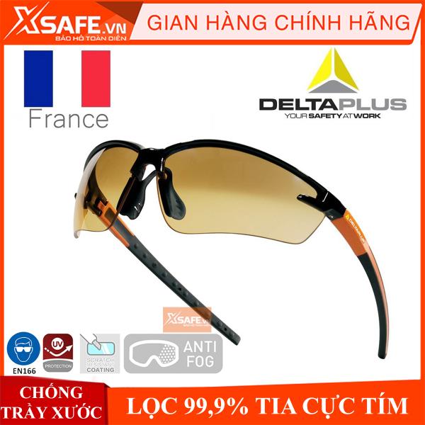Kính bảo hộ Deltaplus Fuji2 - kính chống tia UV, chống bụi, chắn gió, chống xước, đọng sương. Mắt kính trong suốt, bảo vệ mắt du lịch, lao động, đi xe máy (2 màu trắng/vàng khói(gradient)) [XSAFE] [XTOOL]