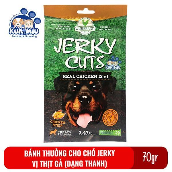 Bánh Thưởng Cho Chó Jerky 70Gr Vị Thịt Gà Dạng Thanh Dẹt