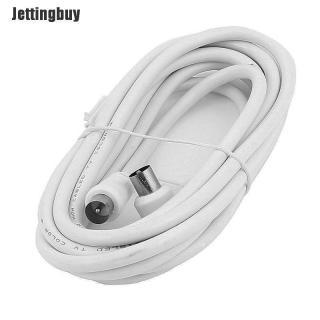 Jettingbuy 2M Mét Góc Phải RF TV Cáp Dẫn Trên Không Nam Đến Coax Đồng Trục Trắng P1 1M thumbnail