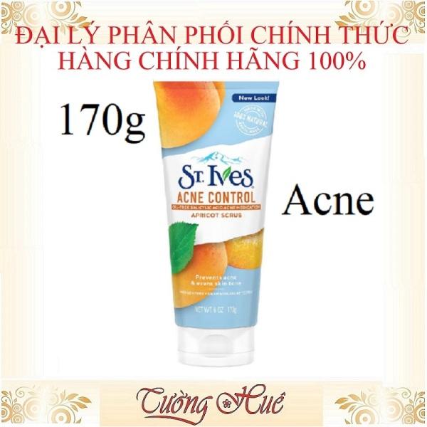 Rửa mặt tẩy da chết dạng hạt St. Ives Acne Control Apricot Scrub - 170g giá rẻ