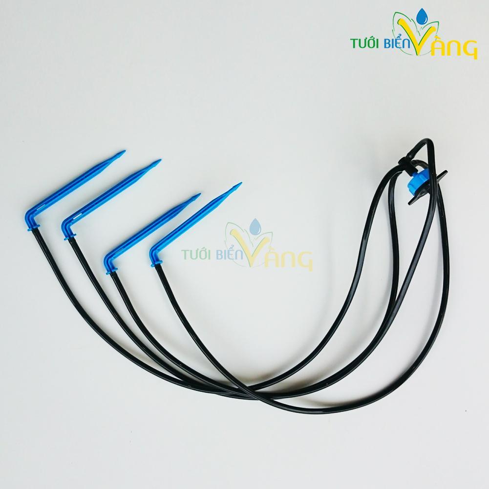 10 Bộ tưới nhỏ giọt bù áp 4 que cắm gốc kết nối ống LDPE