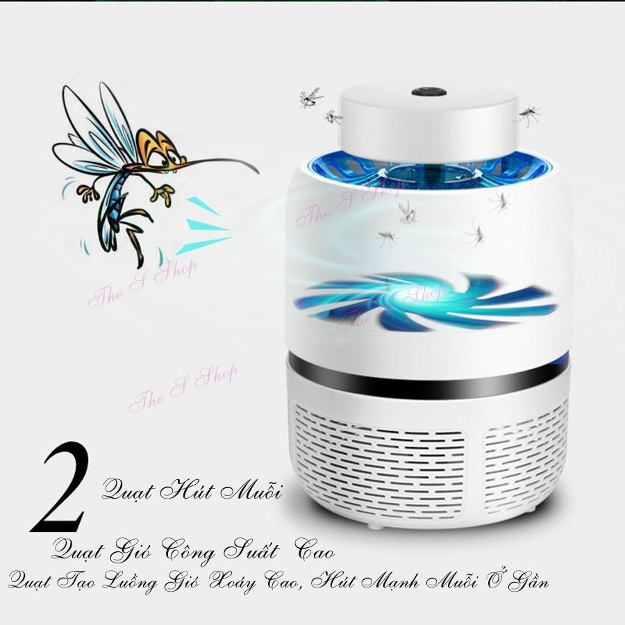 [ Khuyến mại lớn] Máy bắt muỗi và diệt côn trùng tia UV Eddrac(Hàng chất lượng cao KHÔNG Giá Rẻ) - màu trắng