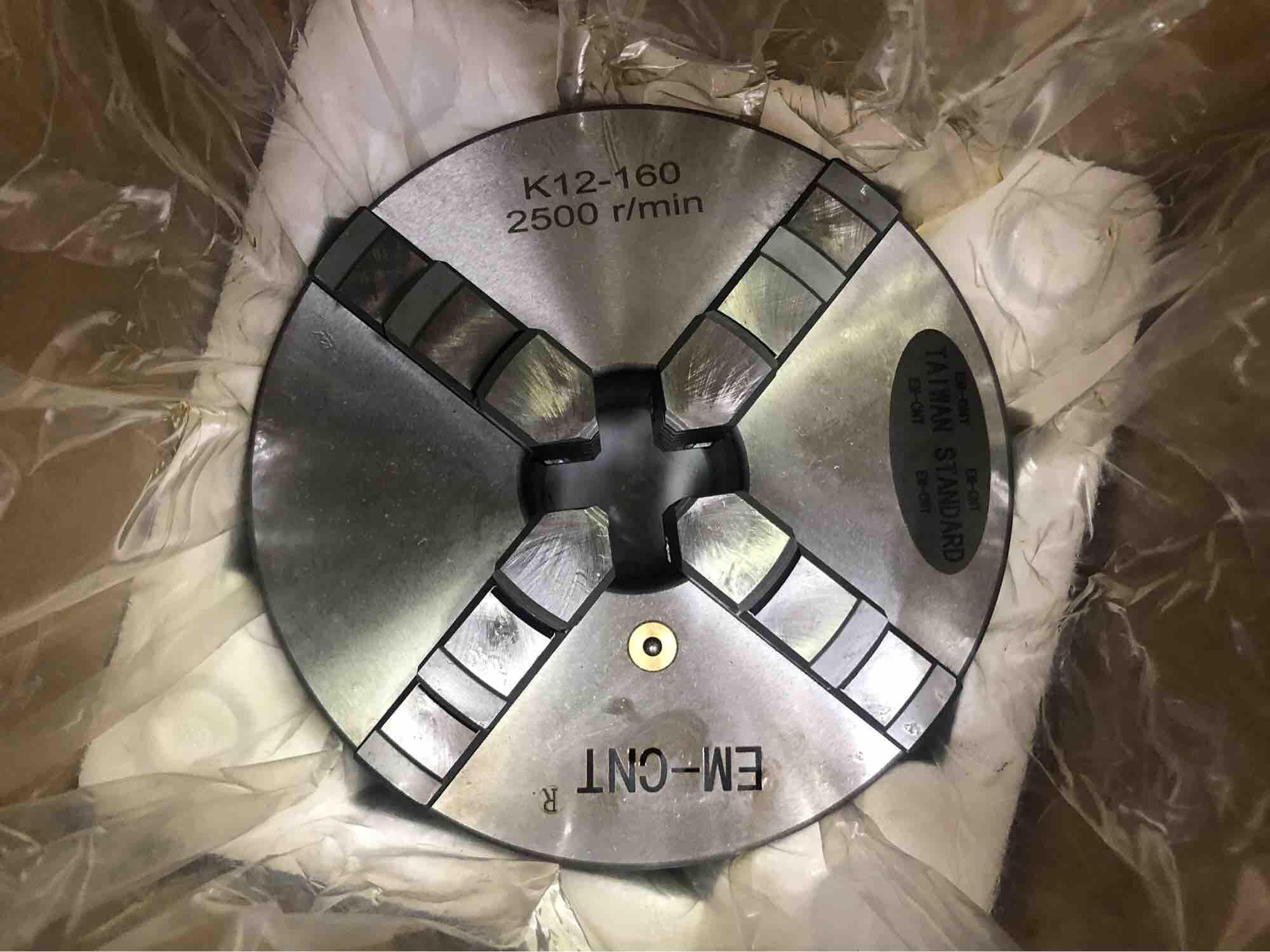 Mâm cập máy tiện 4 chấu  cao cấp EM-CNT loại 1 ( k12-160 )
