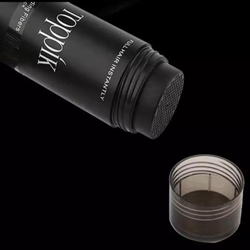 [Màu đen - black] Bột phủ làm dày tóc toppik hair, Giải Pháp Che Khuyết Điểm Tóc Đầy Đặn Dày Đặc Hơn Làm Dày Bột