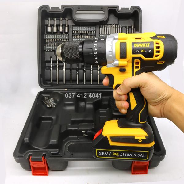 Máy khoan pin Dewalt 36V DCD700 kèm phụ kiện - Máy khoan pin có phụ kiện - Khoan gỗ, khoan kim loại, bắt vít - Máy khoan pin cực khỏe, công suất lớn - VAN ĐÔ STORE