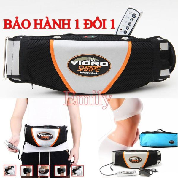 Máy Matxa Lưng, Đai Quấn Bụng vibro shape, Đai massage nóng rung Tặng thước dây