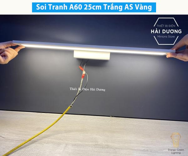 Bảng giá Đèn soi tranh - Đèn rọi gương Led Model A60 25-40-55cm Ánh Sáng Vàng - Có video thực tế
