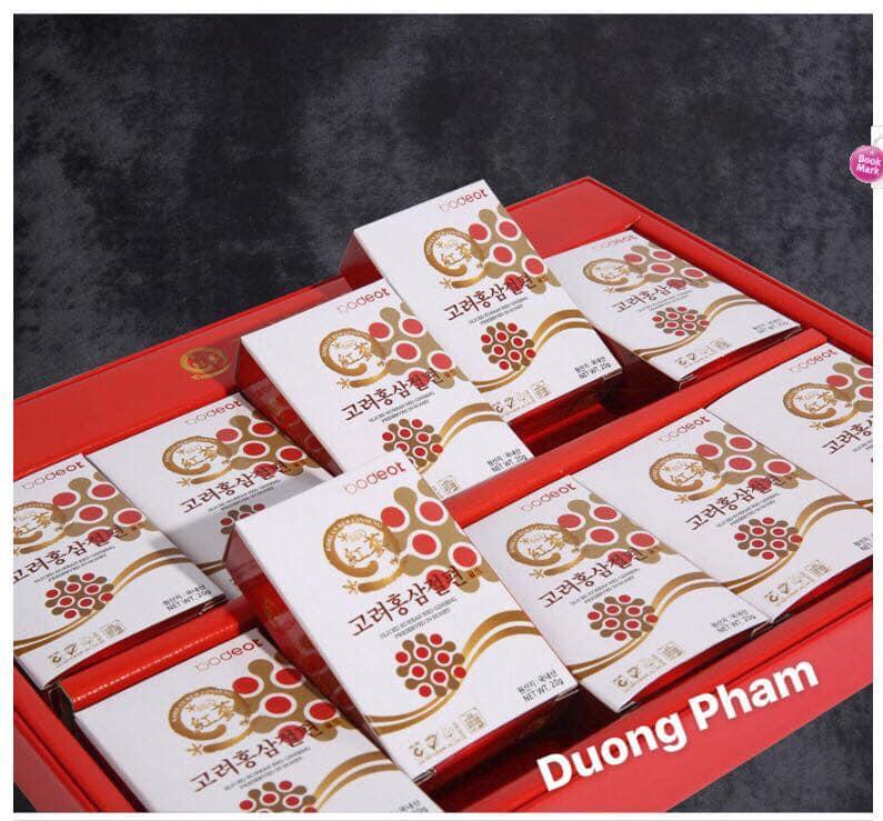 Hồng sâm lát tẩm mật ong Hàn Quốc BODEOK 10 hộp nhỏ x 20g
