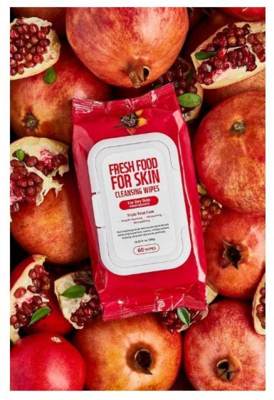 Khăn Ướt Tẩy Trang Farm Skin Fresh Food Pomegranate Cho Da Khô 60 Miếng cao cấp