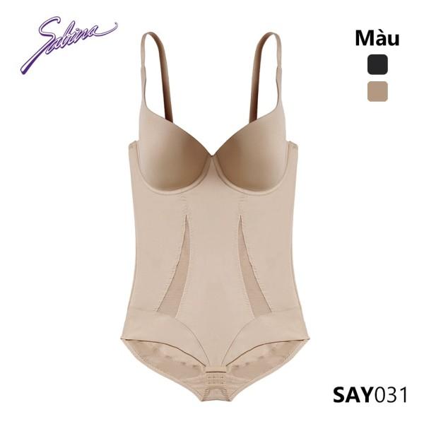 Nơi bán Bộ Đồ Lót Liền Thân Nguyên Người Bodysuit Cup Áo Có Gọng Màu Đen Hoặc Da Shapewear By Sabina SAY031