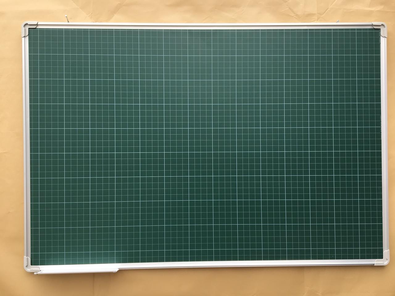Mua Bảng từ xanh viết phấn kẻ ô ly 80x120cm - tặng bông lau, phấn và nam châm