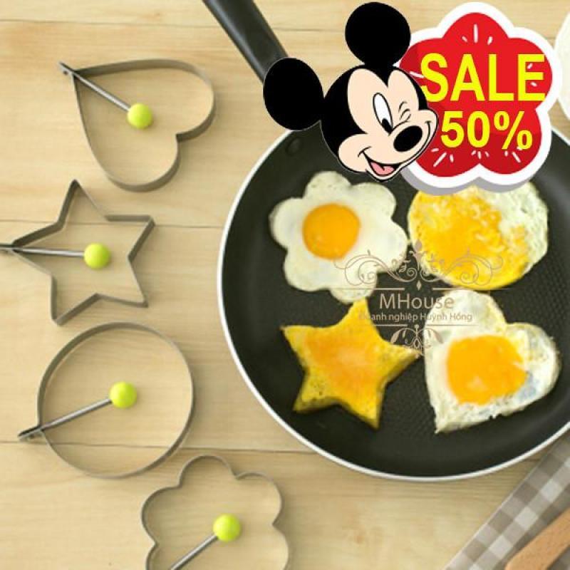 Bảng giá Combo 4 Khuôn Inox Tạo hình trứng, bánh,cơm. Điện máy Pico