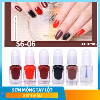 Sơn móng tay lột (bộ 6 lọ) cao cấp OULiSi nail polish nhiều màu- SMT005 thumbnail