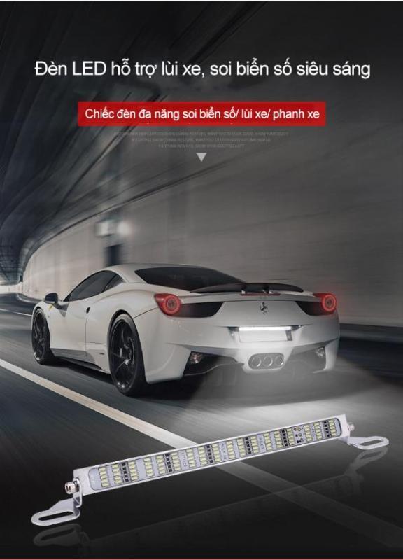 PKTL  Đèn LED hỗ trợ lùi xe siêu sáng 90LED chíp (Lùi xe màu trắng, phanh xe màu đỏ)