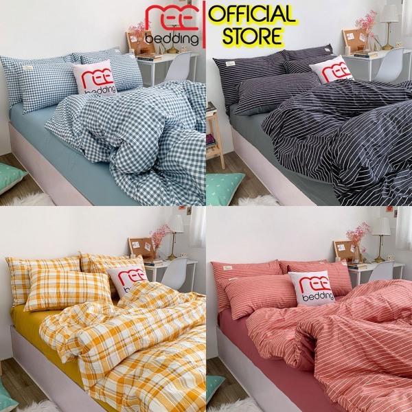 Bộ chăn ga gối Cotton TC REE Bedding CARO 4 món đủ size giường nệm 1m2, 1m4, 1m6, 1m8, 2m