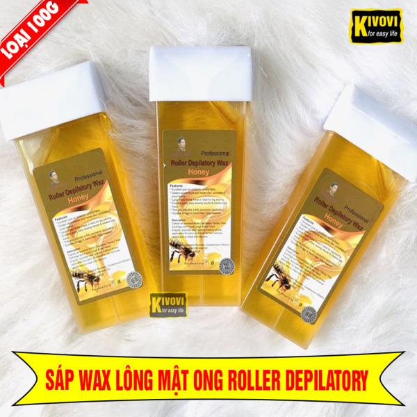 Sáp Wax Lông Nóng Mật Ong ROLLER DEPILATORY 100g CON LĂN - Gel Tẩy Lông Chân Tay Wax Lông Nách - Kivovi