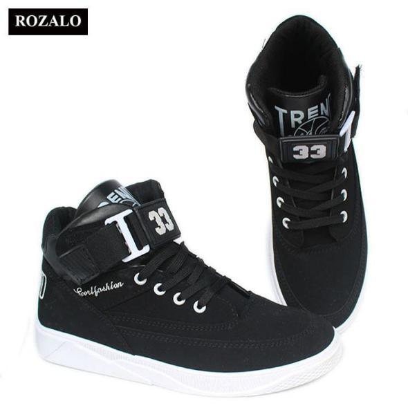 Rozalo RM2333-Giày boot nam kiểu thể thao cổ ngắn có đai cổ giá rẻ
