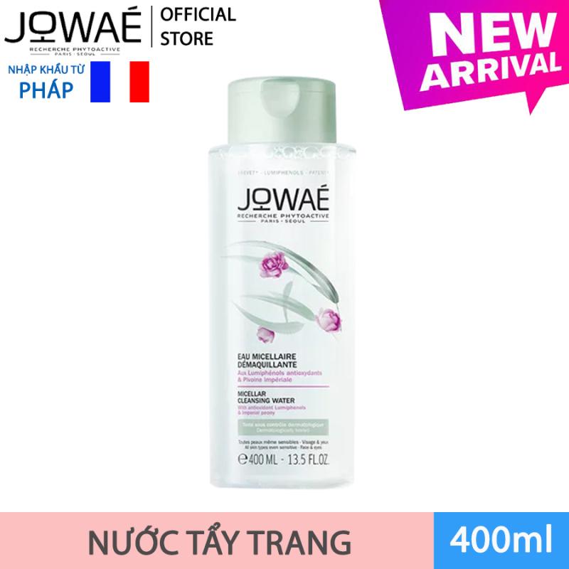 Nước tẩy trang loại bỏ Make up JOWAE 100% làm sạch da không nhờn dính và khô căng Mỹ phẩm thiên nhiên nhập khẩu Pháp MICELLAR CLEANSING WATER 400ml nhập khẩu