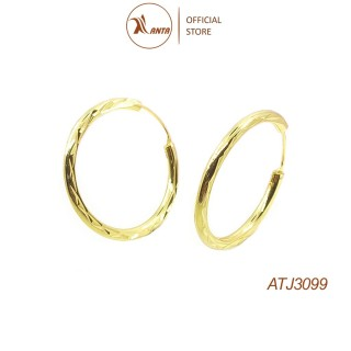 Bông tai bạc 925 tròn đơn giản phay sáng bóng ANTA Jewelry - ATJ3099 thumbnail