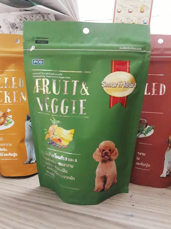 Bánh thưởng cho chó vị trái cây và rau củ Smartheart Dog treats Fruit and Veggie 100g