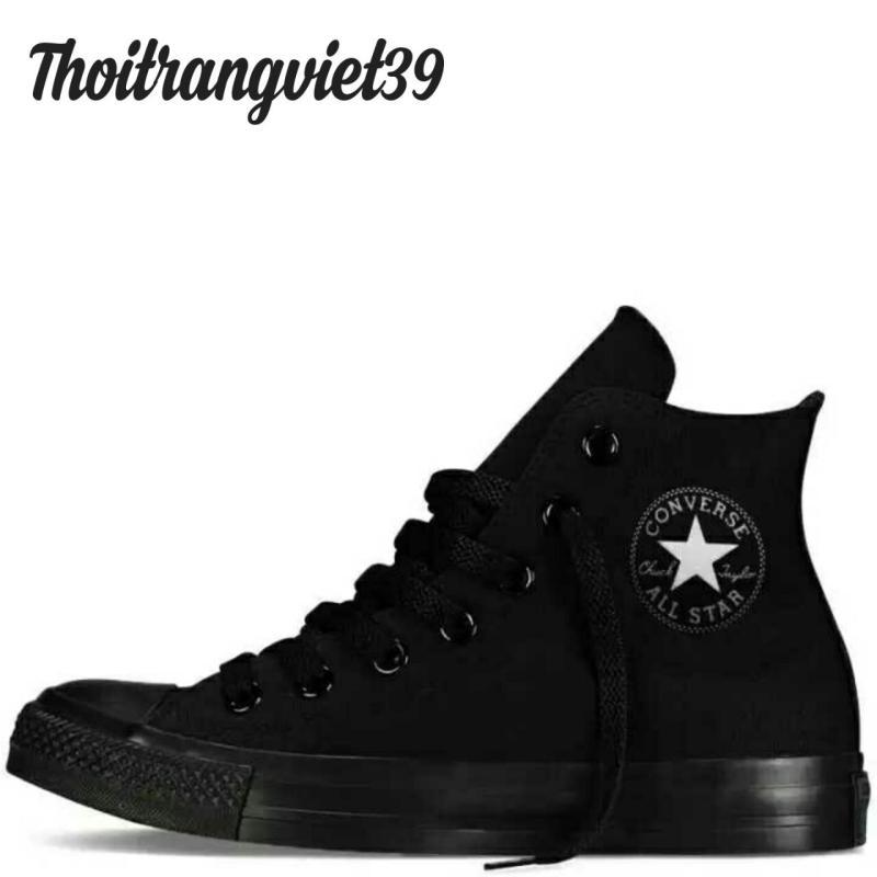 Giày Cv Classic full đen cao cổ logo đen trắng thoitrangviet39