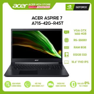 Laptop Acer Aspire 7 A715-42G-R4ST R5-5500U 8GB 256GB VGA GTX 1650 4GB 15.6 FHD Win 10 thumbnail