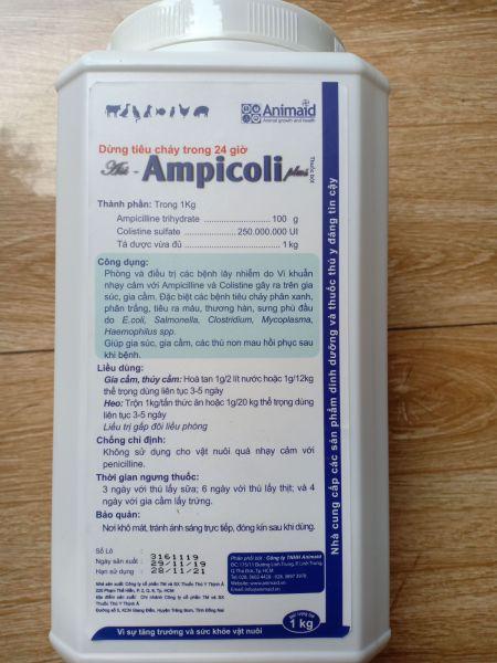 THUỐC THÚ Y- Ampicoli 10% (1kg- dạng bột uống)