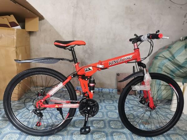 Phân phối Xe đạp gấp gọn thể thao địa hình HaHoo (Bánh căm) (3 màu vàng, đen, cam)