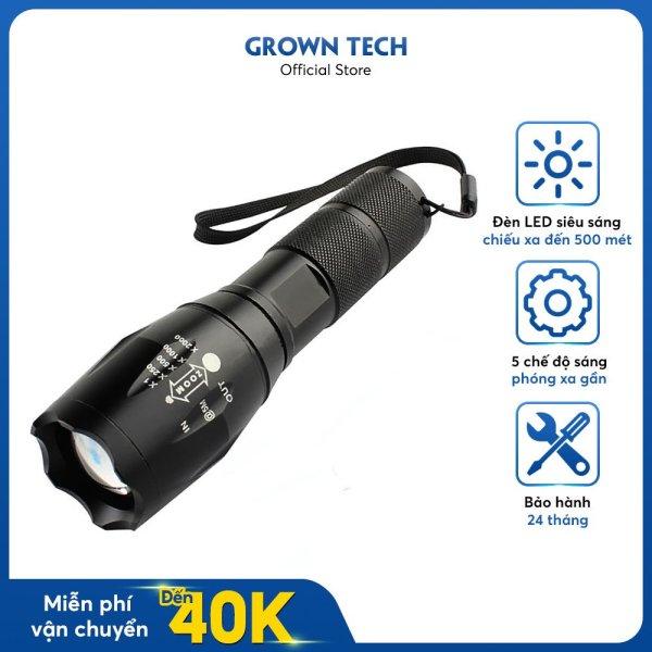 Đèn pin Police AMYXMLS T6 mới siêu sáng tặng bộ sạc và pin sạc, hộp nhựa chống sốc có dây đeo