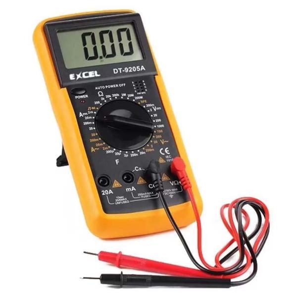 Bộ 1 Đồng hồ đo vạn năng Excel DT9205A Kèm Pin