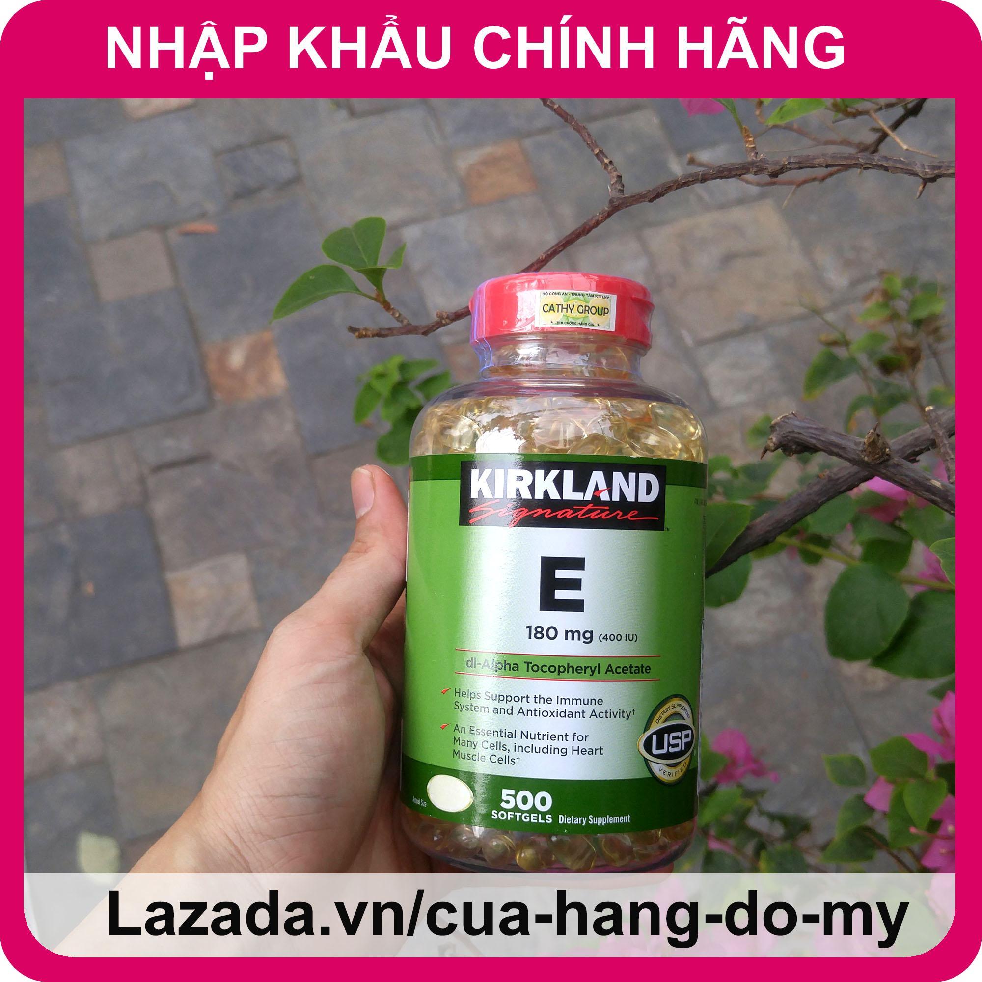 Vitamin E Kirkland 400 IU Mẫu Mới Nhất - 500 Viên ND [DATE MỚI] - Vitamin E của Mỹ giúp sáng da, mịn màng.