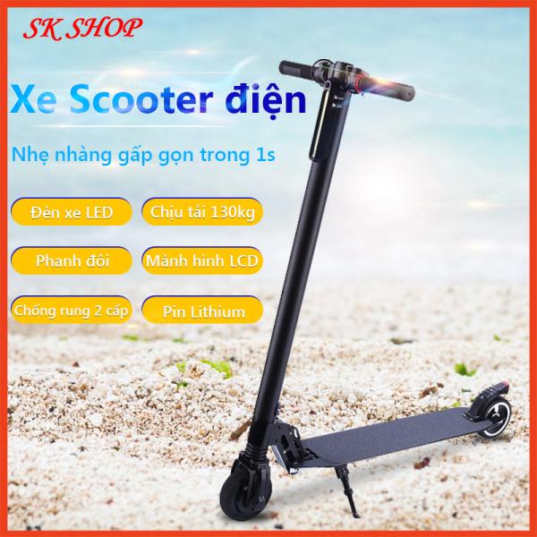Giá bán Xe scooter điện, Scooter điện xếp gọn s8 không yên, Xe trượt điện đa năng, Scooter điện, xe điện trợ lực