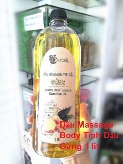 Dầu Massage Body Tinh Dầu Gừng ACENA 1000ml Giảm Béo thumbnail