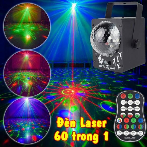 Đèn laser full màu 60 trong 1 đèn led trang trí đám cưới sân khấu vũ trường phòng karaoke
